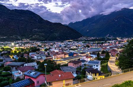 Cityscape of Bellinzona in the Swiss Alps