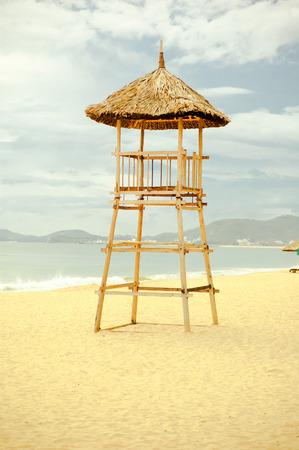 Lifeguard tower on the beach. photo