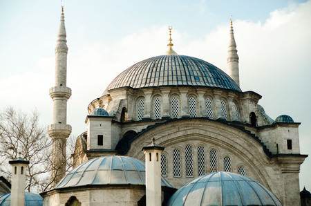 Beautiful image of one of Istanbul mosques Stock Photo