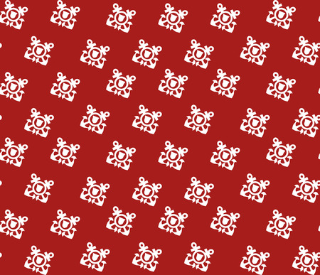Seamless pattern with white anchors