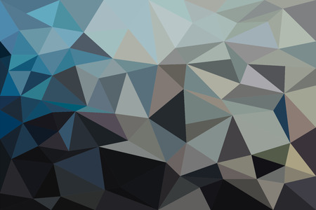 cold colors: Modern style polygonal background with cold colors. Illustration