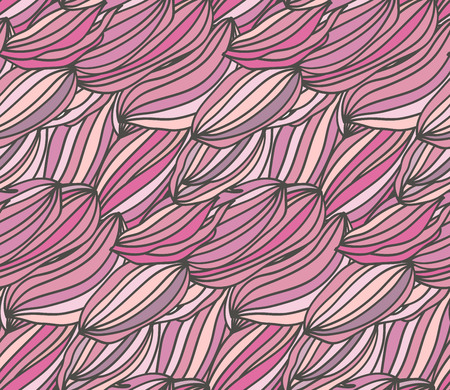 Cute pink seamless abstract pattern. rose colored waves. Illustration