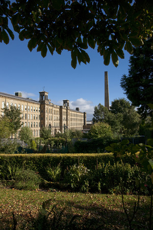View of Salts Mill, Bradford, West Yorkshire. October, 2013 Editorial