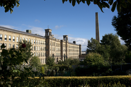 View of Salts Mill, a UNESCO world heritage site in Saltaire, Bradford, West Yorkshire. October, 2013 Editorial