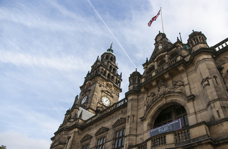 Sheffield City Town Hall, Sheffield, South Yorkshire, UK - September 2013