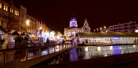 A view of the Nottingham Christmas Market in the Old Market Square, Nottingham, Nottinghamshire - 30th November 2017