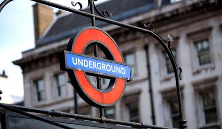 London Underground Entrance Sign at Westminster, London, UK - September 2013