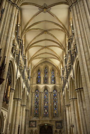 View of the South Transcept of Beverely Minster from the choir, Beverley, East Riding of Yorkshire, UK - March 2014