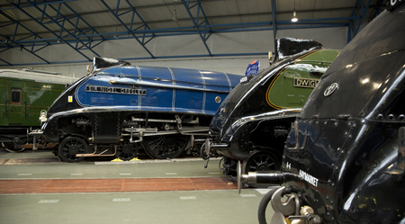Sir Nigel Gresley and Dwight D Eisenhower at the Great Gathering of A4 Steam Locomitives at the National Railway Museum, York, UK - November 2013