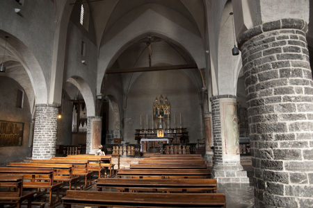 Nave of the Chiesa di San Giorgio ( Church of St. George ) Varenna , Lake Como , Italy - 29th August 2011