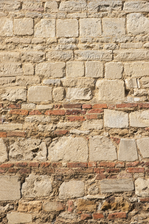 Texture of a mix of stone and brickwork