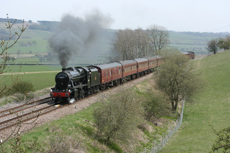 8F Steam Locomotive No. 48151 at Gargrave - 23rd April 2010 with the Whitby-Carnforth Charter Train - Gargrave, United Kingdom Editorial
