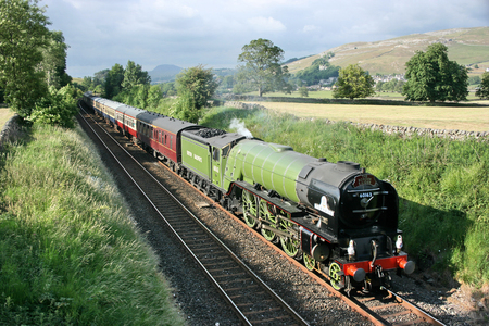 A1 Steam Locomotive Tornado with a Carlisle to Crewe Railtour - Settle Junction, Yorkshire, United Kingdom - 24th June 2010
