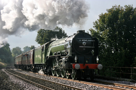A1 Steam Locomotive Tornado with a Worcester to Carlisle Railtour - Langliffe, Yorkshire, United Kingdom - 10th October 2009 Éditoriale