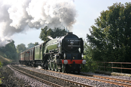 A1 Steam Locomotive Tornado with a Worcester to Carlisle Railtour - Langliffe, Yorkshire, United Kingdom - 10th October 2009 Editorial