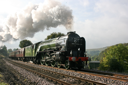 A1 Steam Locomotive Tornado with a Worcester to Carlisle Railtour - Langliffe, Yorkshire, United Kingdom - 10th October 2009 Editoriali