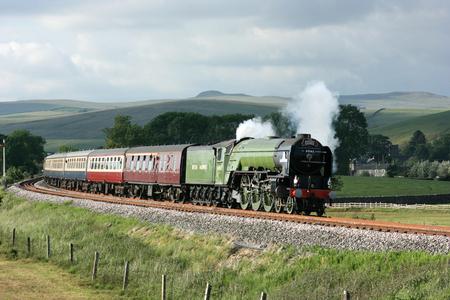 A1 Steam Locomotive Tornado with a Carlisle to Crewe Railtour - Hellifield, Yorkshire, United Kingdom - 24th June 2010 Editoriali