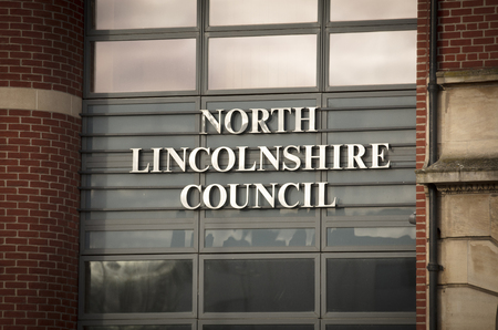 North Lincolnshire Council Building Entrance in Church Square - Scunthorpe, Lincolnshire, United Kingdom - 23rd January 2018