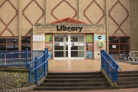 Scunthorpe Central Library entrance - Scunthorpe, Lincolnshire, United Kingdom - 23rd January 2018
