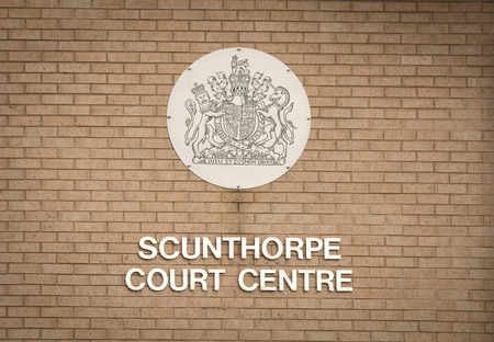 Scunthorpe Court Centre sign - Scunthorpe, Lincolnshire, United Kingdom - 23rd January 2018