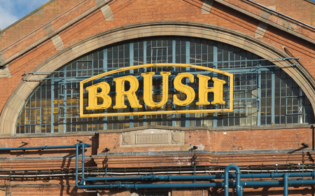 Exterior view of the Brush Electrical Machines Factory, Loughborough, Leicestershire, UK - 1st February 2018 Editorial