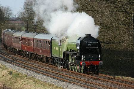 A1 Steam Locomotive Tornado at the Great Central Railway Heritage Steam Railway, Loughborough, Leicestershire, United Kingdom - 21st March 2010