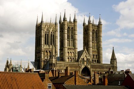 A view of Lincoln Cathedral, Lincoln, Lincolnshire, United Kingdom - August 2009