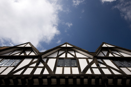 A view of the Tudor Tourism Office, Castle Hill, Lincoln, Lincolnshire, UK -August 2009