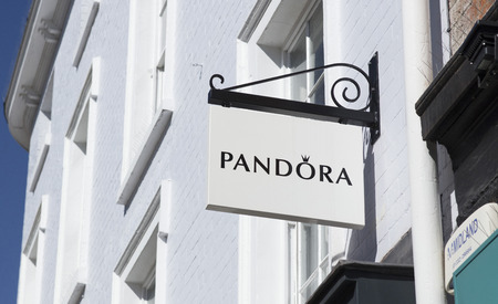 Sign for Pandora, High Street, Lincoln, Lincolnshire, UK - 5th April 2018 Redakční