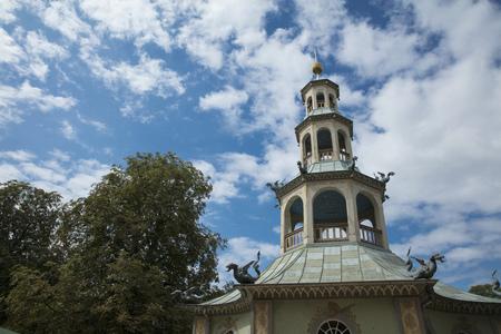 Potsdam, Berlin, Germany, 17th August 2017, Dragon House in Sanssouci Park