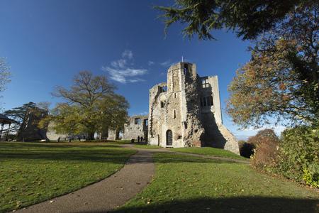 Newark Castle Gardens, Newark, Nottinghamshire, UK, October 2018 - remains of Newark Castle