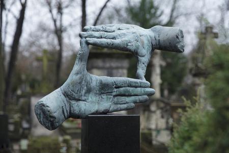 Powazki Cemetery, Warsaw, Poland, Europe, December 2018, Grave of film director Krzysztof Kieslowski