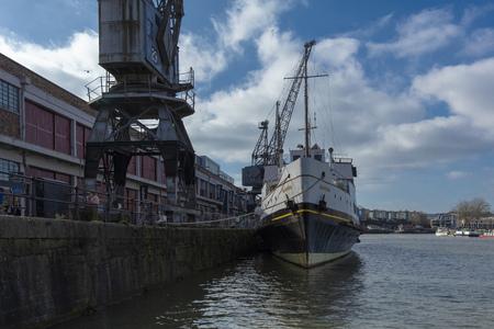 Bristol, United Kingdom, February 23rd 2019, MV Balmoral ship at M Shed Museum at Wapping Wharf