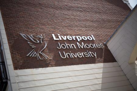 Liverpool, Merseyside, UK, 24th July 2014, a Sign for Liverpool John Moores University Redakční