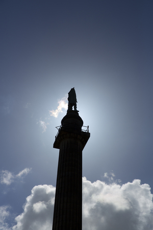Liverpool, Merseyside. June 2014, statue dedicated to the Duke of Wellington with statue at top Reklamní fotografie - 121305131