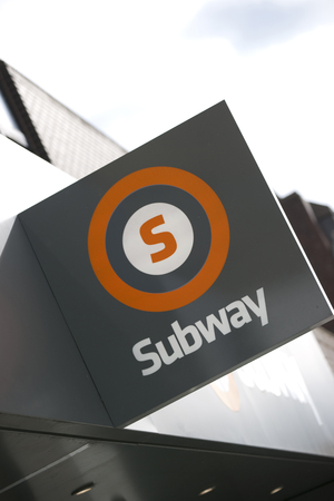Glasgow, Scotland, 7th September 2013, a Glasgow Subway sign for the underground transport system in the city Editorial
