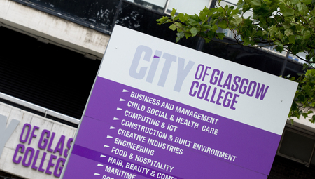 Glasgow, Scotland, 7th September 2013, branding and signage for the City of Glasgow College Editorial