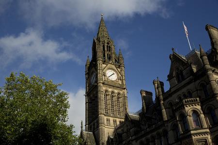 Manchester, Greater Manchester, Wielka Brytania, październik 2013, widok na ratusz w Manchesterze