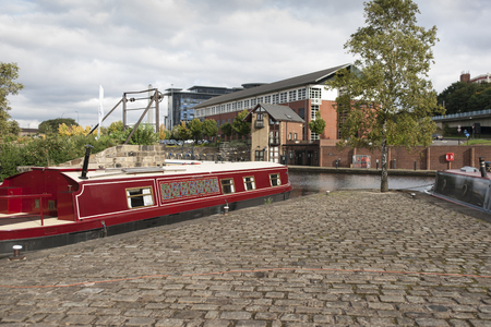 Victoria Quays also known as Sheffield Canal Basin in Sheffield, South Yorkshire, United Kingdom - 13th September 2013