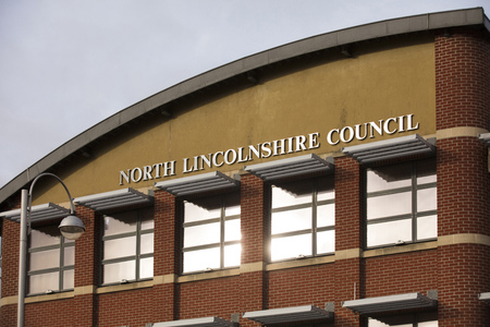 North Lincolnshire Council Building in Church Square - Scunthorpe, Lincolnshire, United Kingdom - 23rd January 2018