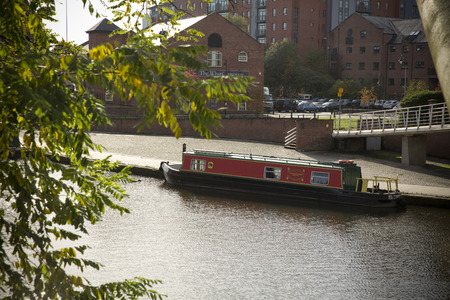 Manchester, Greater Manchester, UK, October 2013, View of Bridgewater Canal Basin in the city centre