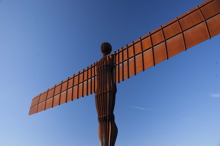 Gateshead, near Newcastle, United Kingdom, November 2012, The Angel of the North sculpture by the sculptor Antony Gormley Imagens - 124999479