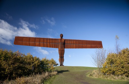 Gateshead, near Newcastle, United Kingdom, November 2012, The Angel of the North sculpture by the sculptor Antony Gormley