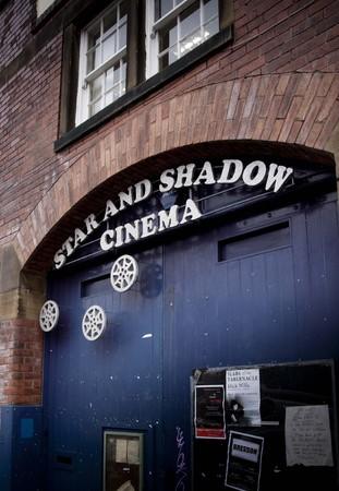 an Entrance sign to the small Star and Shadow Cinema in Newcastle upon Tyne, Tyneside, UK - 6th November 2012 Redakční