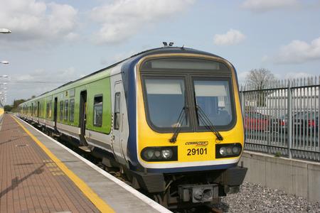 Newbridge station,Ireland, April 2008, an Iarnrod Eireann train service