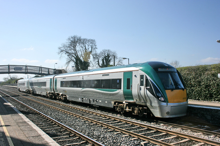 kildare station ,Ireland, April 2010, an Iarnrod Eireann train service