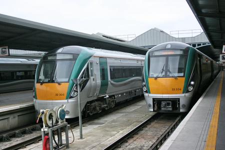 dublin heuston ,Ireland, April 2010, an Iarnrod Eireann train service