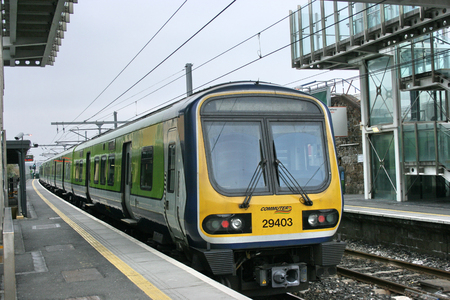 blackrock station,Ireland, April 2010, an Iarnrod Eireann train service