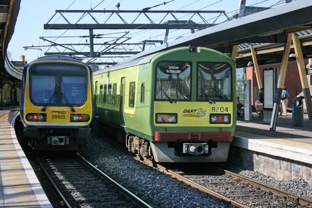 Dublin Connolly station ,Ireland, April 2010, an Iarnrod Eireann train service