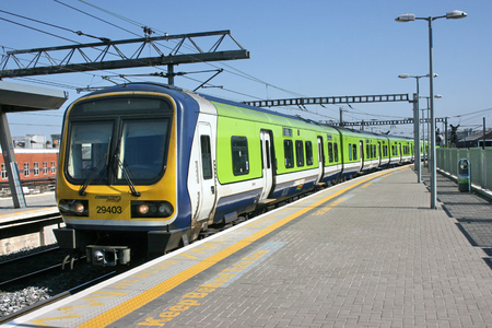 Dublin Connolly station ,Ireland, April 2010, an Iarnrod Eireann train service